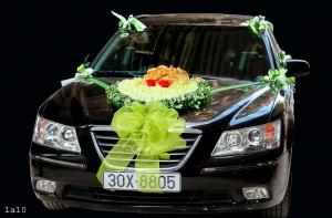 Hoa xe cưới trái tim hoa hồng