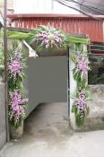 Cổng hoa ly ngày cưới
