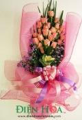 Bó hồng cam