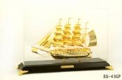 Thuyền buồm mạ vàng 24k cỡ lớn-43