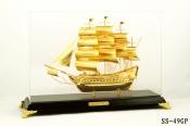 Thuyền buồm mạ vàng 24k cỡ lớn - 49