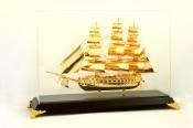 Thuyền buồm mạ vàng 24k cỡ lớn - 46