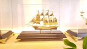Thuyền buồm mạ vàng 24k-03