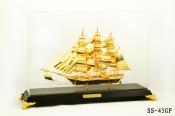 Thuyền buồm mạ vàng 24k cỡ lớn-45