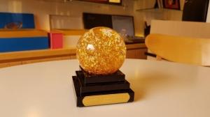 Quả cầu phong thuỷ đúc vàng lá 24k. Mã sản phầm: FNS-B002