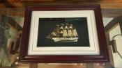Tranh thuyền 3D mạ vàng