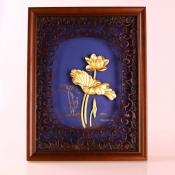 Tranh vàng lá hoa sen 2532cm