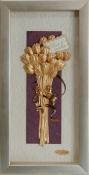 Bó hoa vàng lá 24k - KS13P-SSN1326-02