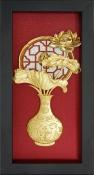 Tranh lọ hoa sen vàng lá - SSN1326-11