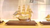Thuyền buồm mạ vàng 24k cỡ lớn-421