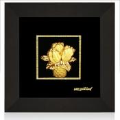 Tranh vàng lá lọ hoa vàng lá - KS13B-SSN1313-01