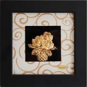 Tranh giỏ hoa vàng lá 24k - KS13W-SSN1313-01