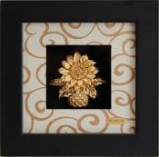 Tranh giỏ hoa vàng lá 24k - KS13W-SSN1313-03