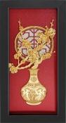 Tranh vàng lá 24K -Bình hoa đào - SSN1326_16