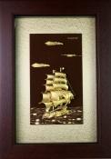 Tranh Vàng Lá 24K - Thuận Buồm Xuôi Gió 50cm