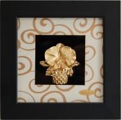 Tranh giỏ hoa vàng lá 24k - KS13W-SSN1313-04